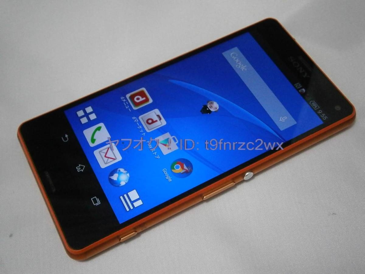 docomo SONY Xperia Z3 Compact SO-02G 判定○ 初期化済み ドコモスマホ ジャンク②_画像1
