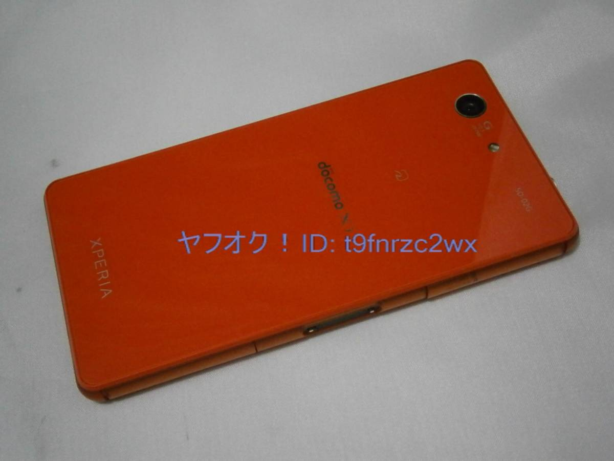 docomo SONY Xperia Z3 Compact SO-02G 判定○ 初期化済み ドコモスマホ ジャンク②_画像2