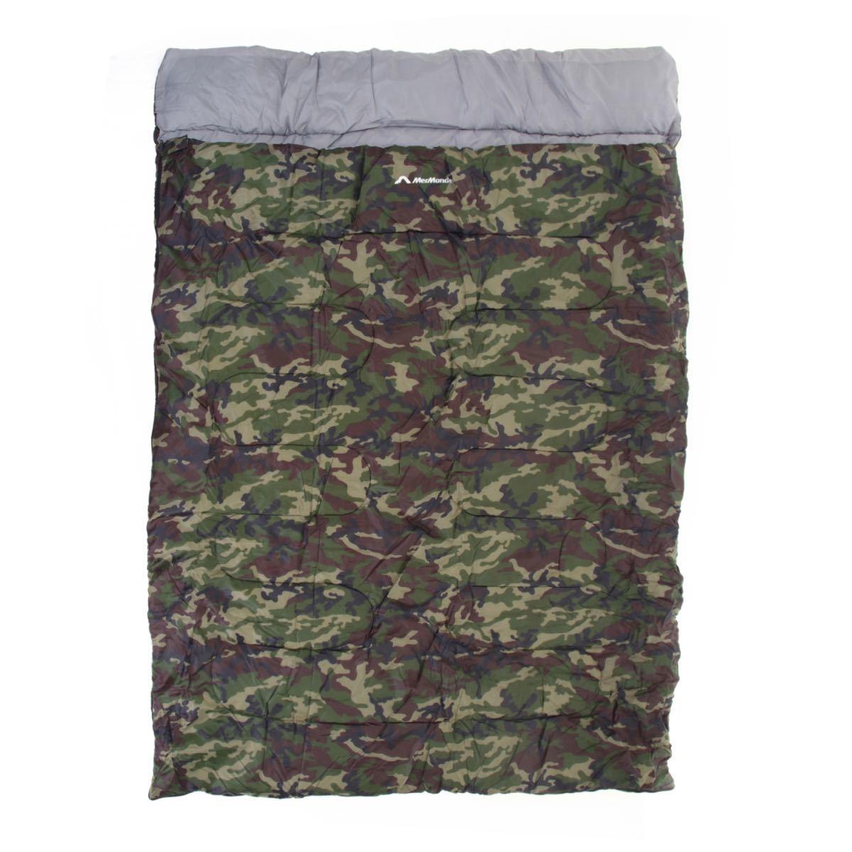 寝袋 シュラフ アウトドア キャンプ 2人用 マットレス車中泊 マット お泊り