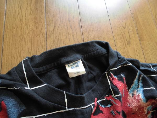 XL☆ピンクフロイドPINK FLOYD☆総柄Tシャツ THE WALL70年代70sアメリカusaバンド ロック プログレ映画キャラ_画像4
