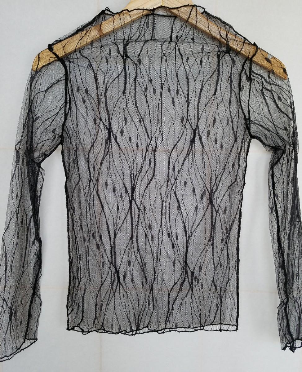 レディース服 レース シースルー トップス シャツ ブラウス インナー オシャレ