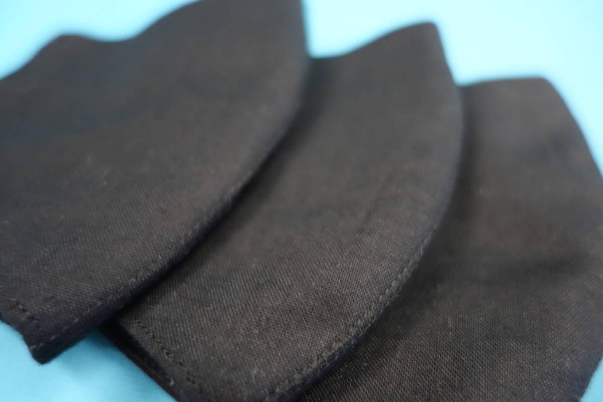◆綿100% ◆小顔 ◆黒 ◆シンプル ◆表裏 真っ黒 ◆マスク用ゴム黒 ◆立体 ◆手作り ◆マスクカバー ◆インナー ◆職場 ◆仕事_画像6