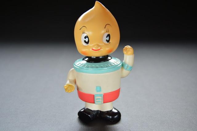 古い貯金箱 東邦ガス 炊飯器 ほのお君 A 検索用語→A昭和レトロソフビ人形企業物キャラクター_画像1
