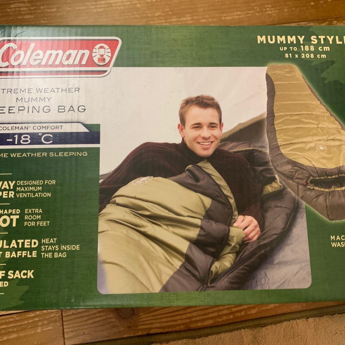 コールマン Coleman マミー型 寝袋 最低使用温度 -17.8℃