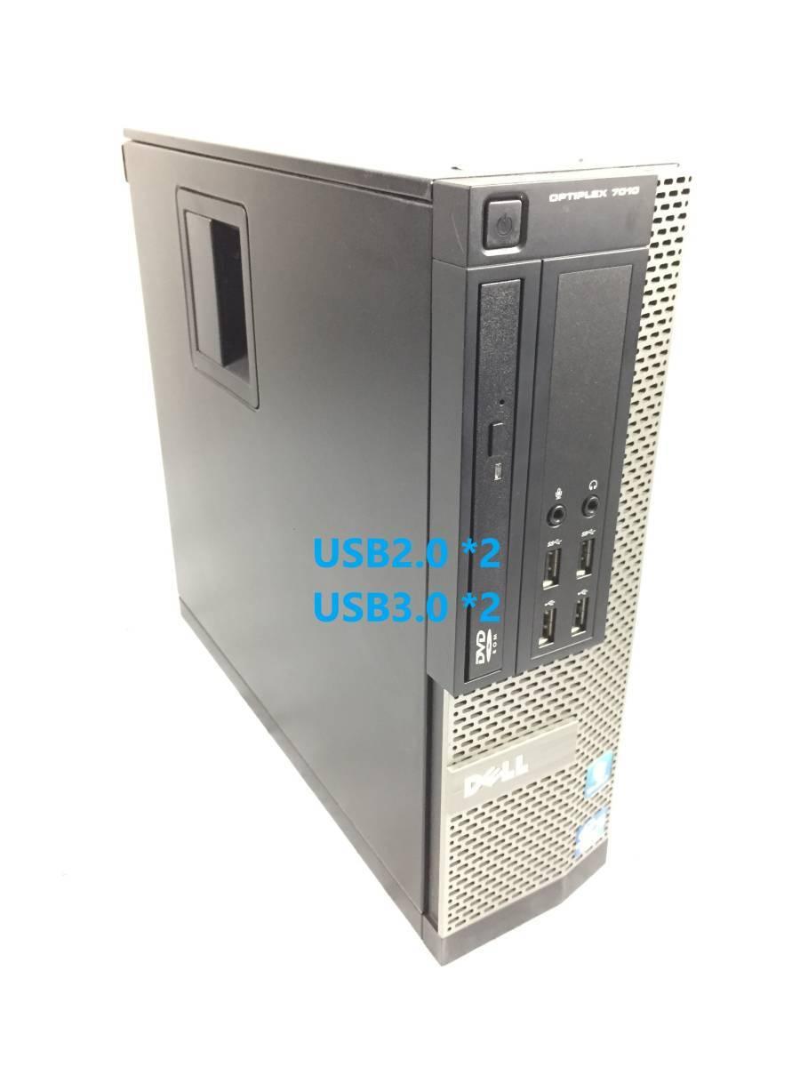 ■驚速小型 省スペースPC DELL i7-3770 3.9G x8/16GB■新SSD:240GB+HDD:1TB Win10 Pro Office2019 USB3.0/無線LAN■OPTIPLEX 7010 SFF-6_画像3