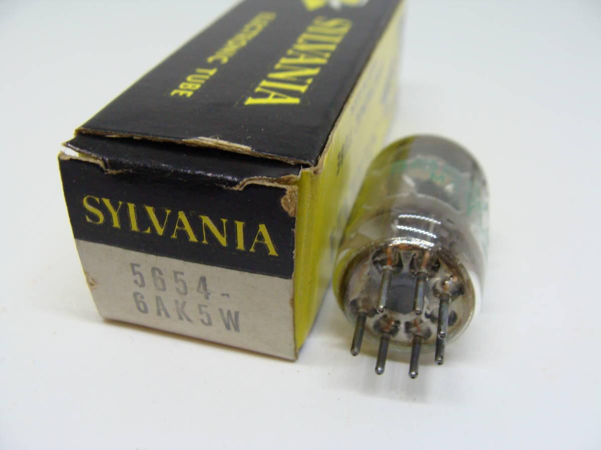 真空管 5654 6AK5W 1本 SYLVANIA ブラックプレート 箱入り 3ヶ月保証 #015-016_画像1