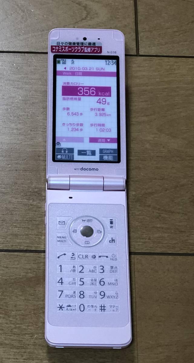 ドコモ 携帯 N-03B モックアップ ガラケー サンプル 見本品 玩具 おもちゃ NEC モック_画像2