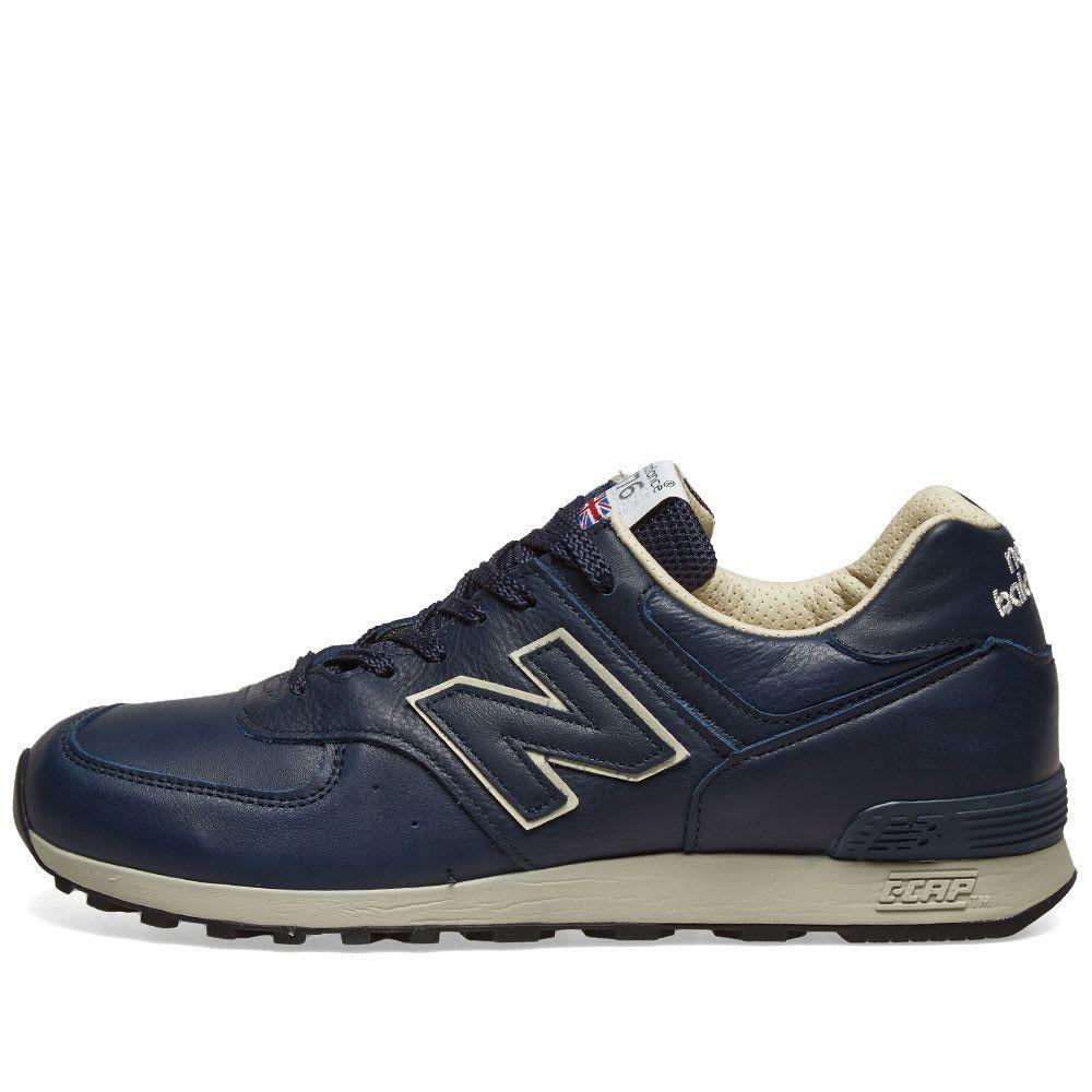 送料無料 27.5cm●ニューバランス New Balance M576 CNN UK イングランド 紺 NAVY メンズ スニーカー NB レザー 996 ワイズ D_画像2