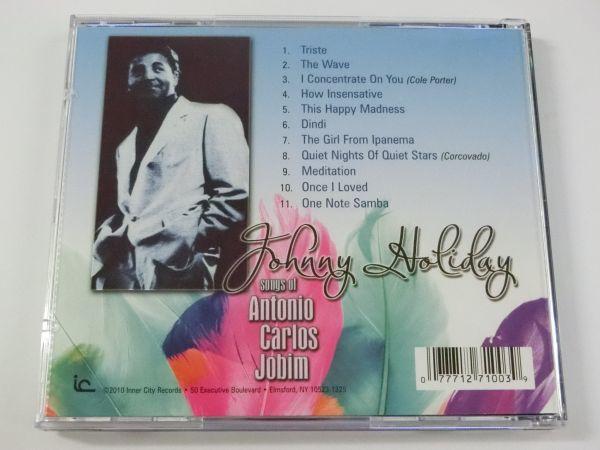 ジョニー・ホリデイ ソングス・オブ・アントニオ・カルロス・ジョビン 輸入盤 日本語解説・帯付 OTCD-3478 全11曲 JOHNNY HOLIDAY_画像3