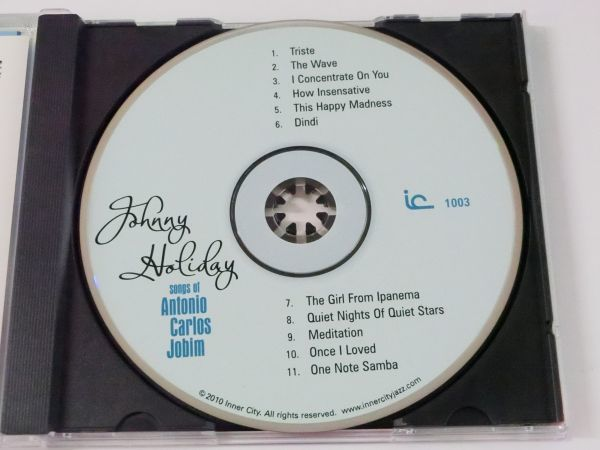 ジョニー・ホリデイ ソングス・オブ・アントニオ・カルロス・ジョビン 輸入盤 日本語解説・帯付 OTCD-3478 全11曲 JOHNNY HOLIDAY_画像5