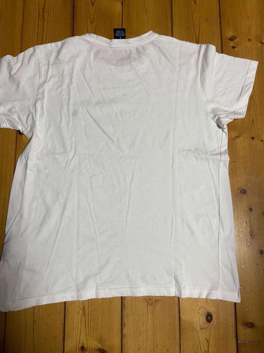 ポロ ラルフローレン メンズ 半袖Tシャツ 白 サイズL
