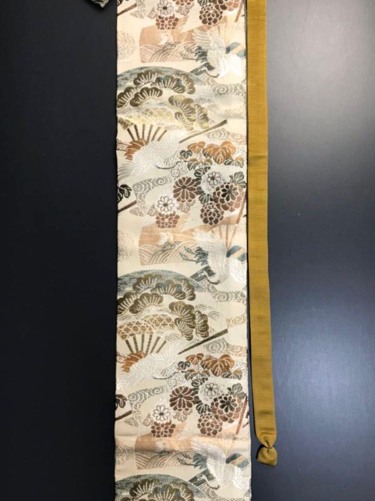 限定4本 日本刀 太刀 刀 刀袋 飛鶴華紋 鶴紋 職人ハンドメイド 100% 正絹使用 一点物 A-3_画像4