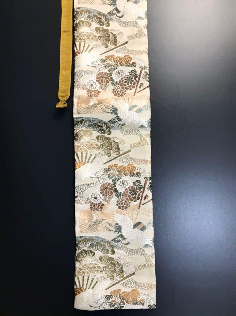 限定4本 日本刀 太刀 刀 刀袋 飛鶴華紋 鶴紋 職人ハンドメイド 100% 正絹使用 一点物 A-3_画像9
