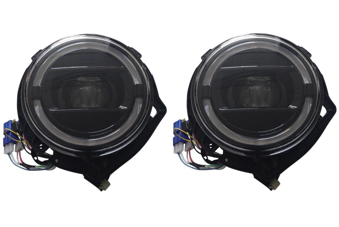 現行W463A(2019y~)スタイル ヘッドライト ブラック/ベンツ ゲレンデ W463 Gクラス 前期車(1986y~2006y) 純正ハロゲン車対応_画像1