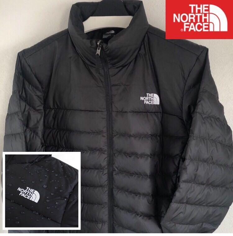 【20年新作】新品未使用 The North Face ダウンジャケット (メンズL) 黒色 RDS認証 グースダウン×リップストップナイロン 撥水 ブラック