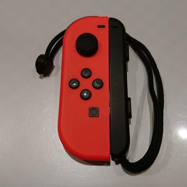 Switch ジョイコン joy-con (L) ネオンレッド ストラップ付き