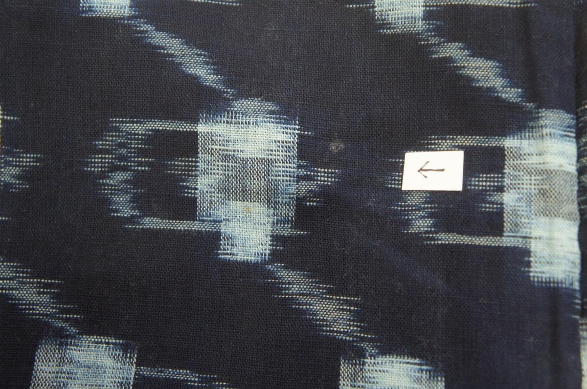 木綿濃紺色絣模様材料用[T12527]_木綿濃紺色絣模様材料用