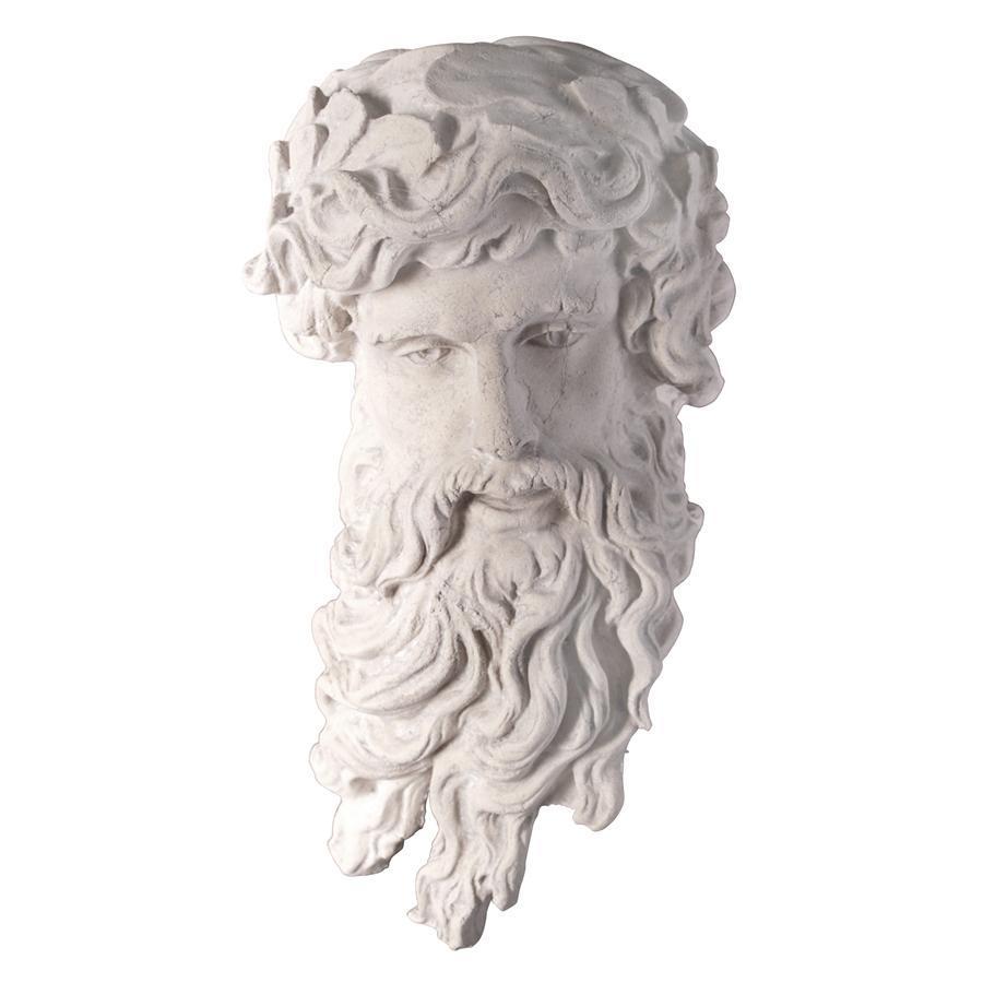 海神ポセイドン頭部像 西洋彫刻像神像壁掛けレリーフギリシャ神話インテリア装飾品飾り小物オブジェアンティーク風壁飾りウォールデコ雑貨_画像2