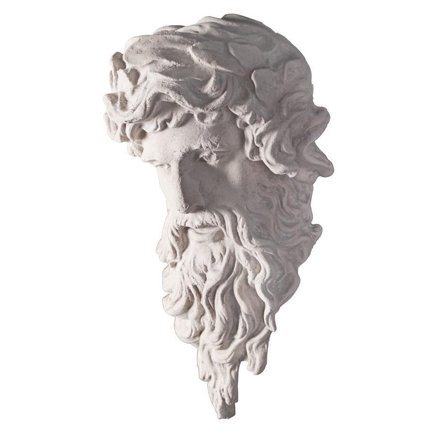 海神ポセイドン頭部像 西洋彫刻像神像壁掛けレリーフギリシャ神話インテリア装飾品飾り小物オブジェアンティーク風壁飾りウォールデコ雑貨_画像3