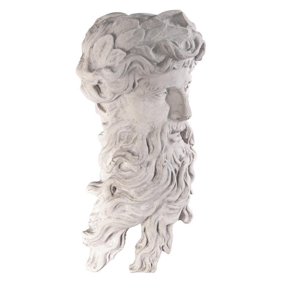 海神ポセイドン頭部像 西洋彫刻像神像壁掛けレリーフギリシャ神話インテリア装飾品飾り小物オブジェアンティーク風壁飾りウォールデコ雑貨_画像4