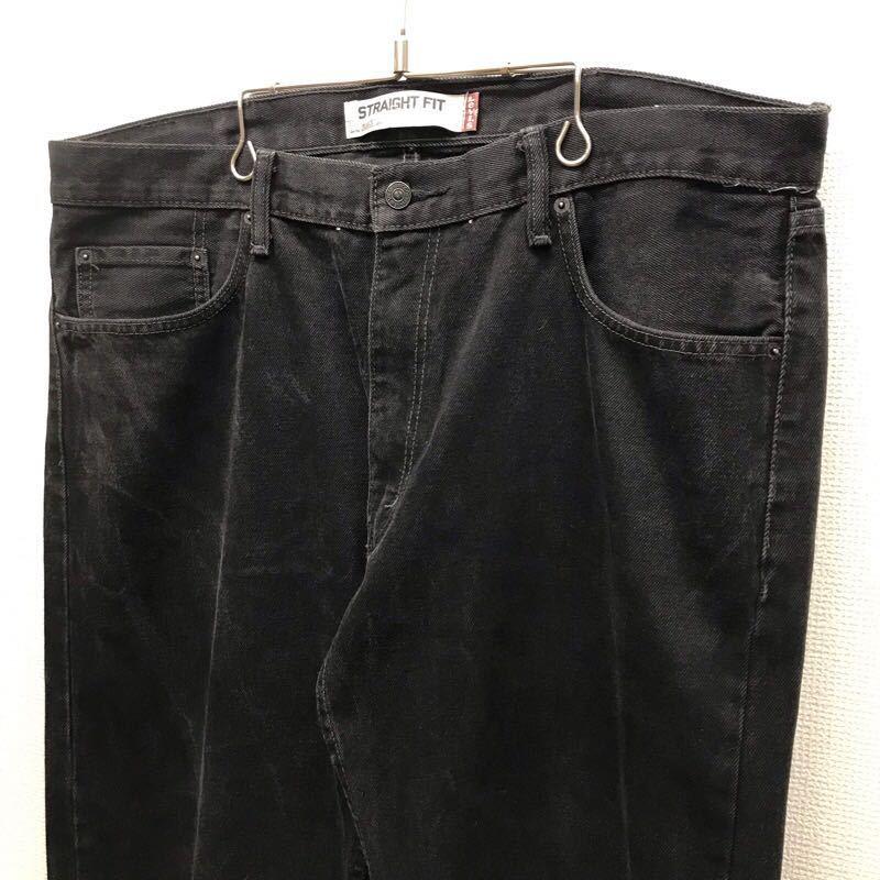 Levi's505 W38 L32 ブラック ジーンズ ジーパン デニムパンツ ビッグサイズ 大きいサイズ メンズ ブランド古着 リーバイス505 送料無料J115