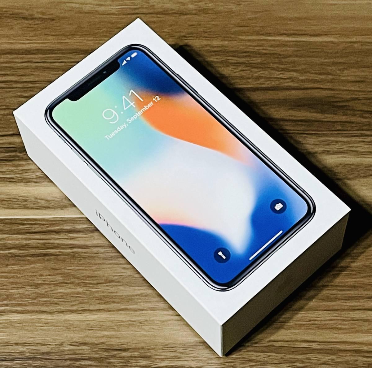 【極美品】Apple iPhone X 256GB シルバー MQC22J/A SIMフリー版_画像2
