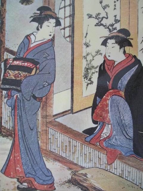 清長 浮世絵印刷物 ラミネート加工処理 No14_画像1
