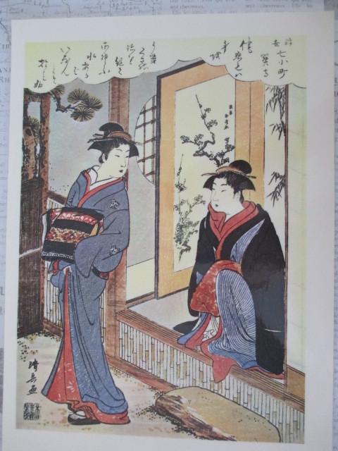 清長 浮世絵印刷物 ラミネート加工処理 No14_画像2