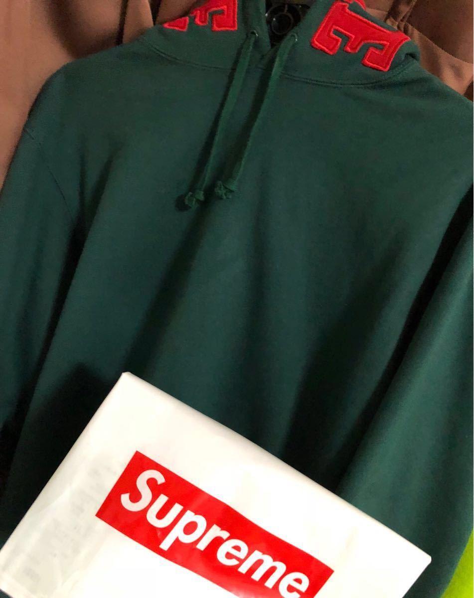 1円スタート!Supreme Mirrored Logo Hooded Sweatshirt 人気Mサイズ