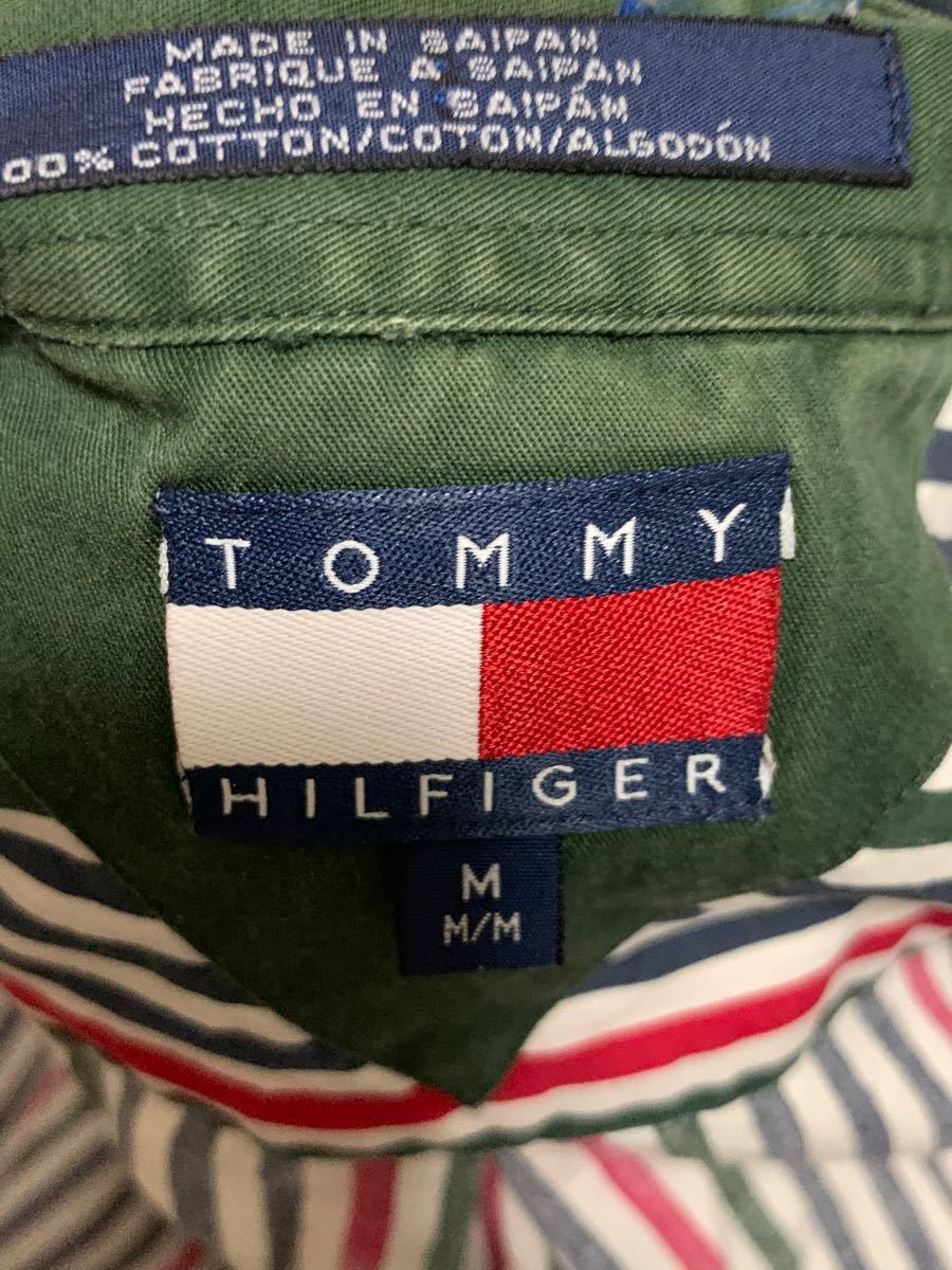 ストライプシャツ tommyhilfiger Mサイズ シャツ トミー