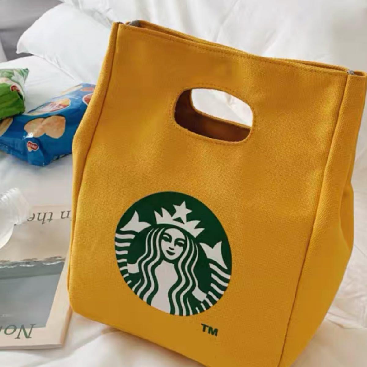 スターバックス トートバッグ ランチバッグ 黄色 エコバッグ数量限定 海外
