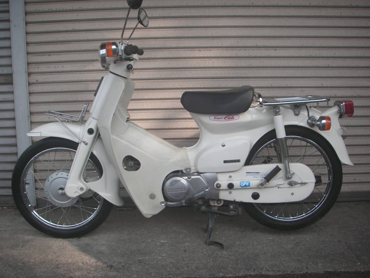 「ホンダ カブ号 HA02 90cc 元々白色塗装  2」の画像1