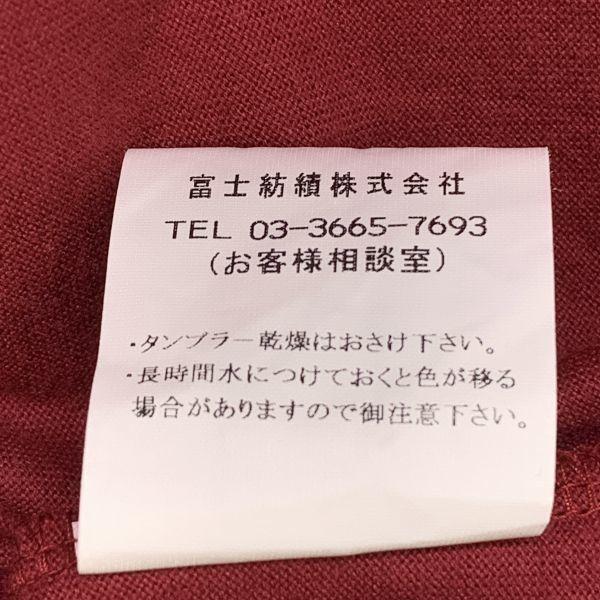BOULE MICHE ポケット Tシャツ ワインレッド Lサイズ 日本製 ジャパンオールド_画像6