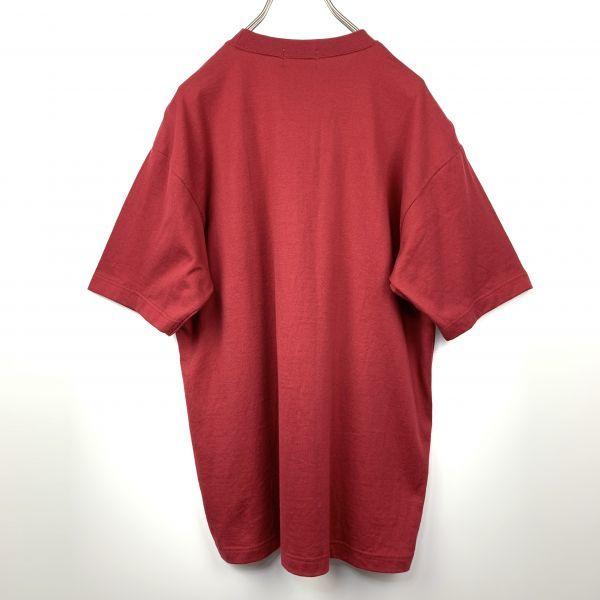 BOULE MICHE ポケット Tシャツ ワインレッド Lサイズ 日本製 ジャパンオールド_画像3
