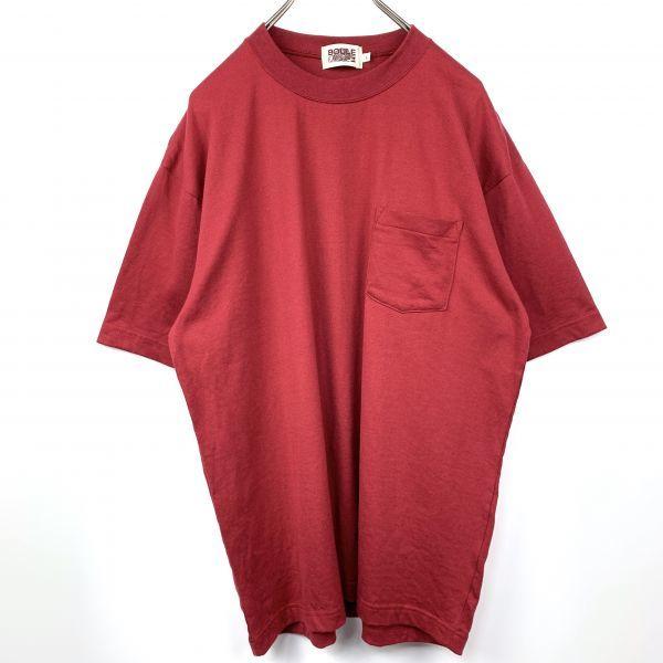 BOULE MICHE ポケット Tシャツ ワインレッド Lサイズ 日本製 ジャパンオールド_画像2
