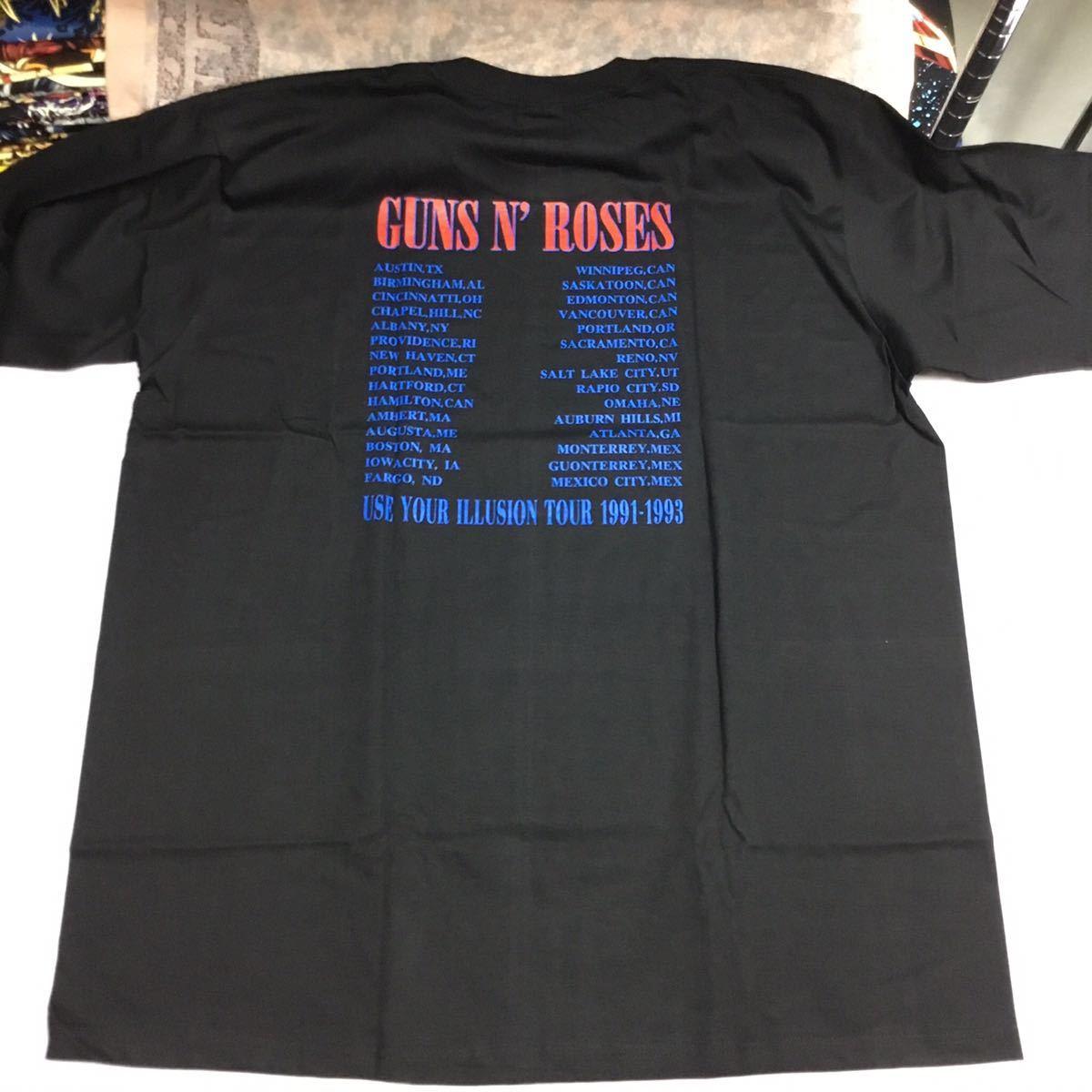 SR1A2. 両面プリントビッグサイズ バンドデザインTシャツ XXXL ガンズアンドローゼズ GNR GUNS N' ROSES ③