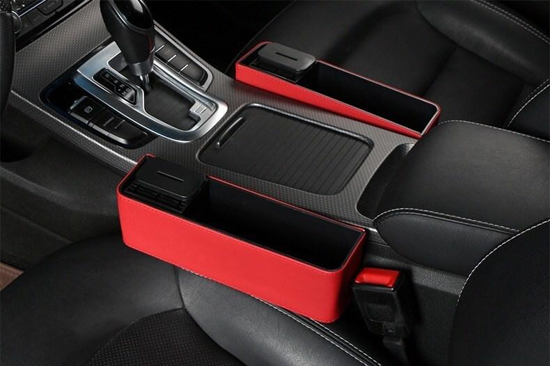 ジープ jeep 車用収納ポケット 便利グッズ 車載用 小物入れ 小銭 スマホ スマートフォン 携帯 整理 ボックス カーシート/赤 /黑 2色選択可_画像4