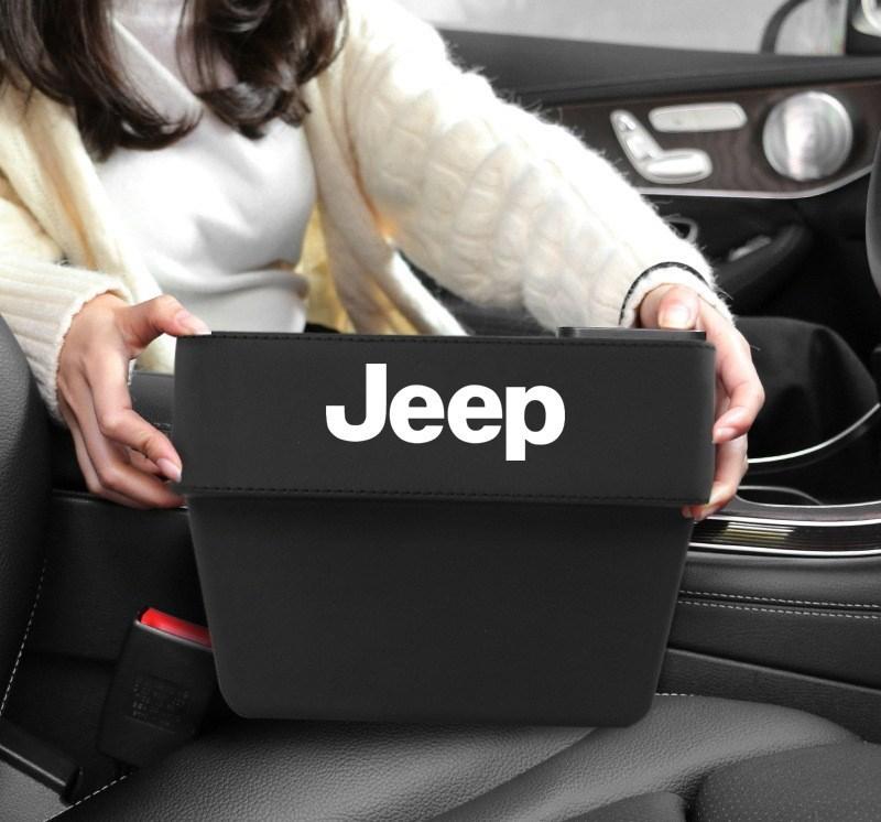 ジープ jeep 車用収納ポケット 便利グッズ 車載用 小物入れ 小銭 スマホ スマートフォン 携帯 整理 ボックス カーシート/赤 /黑 2色選択可_画像1
