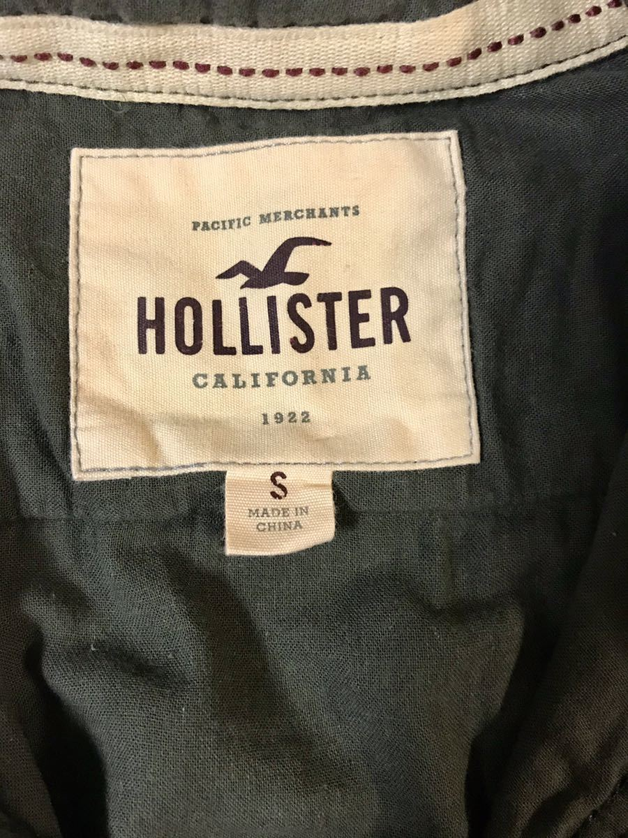 正規店購入 HOLLISTER ホリスター半袖シャツ アーミーグリーンー系 Sサイズ_画像3