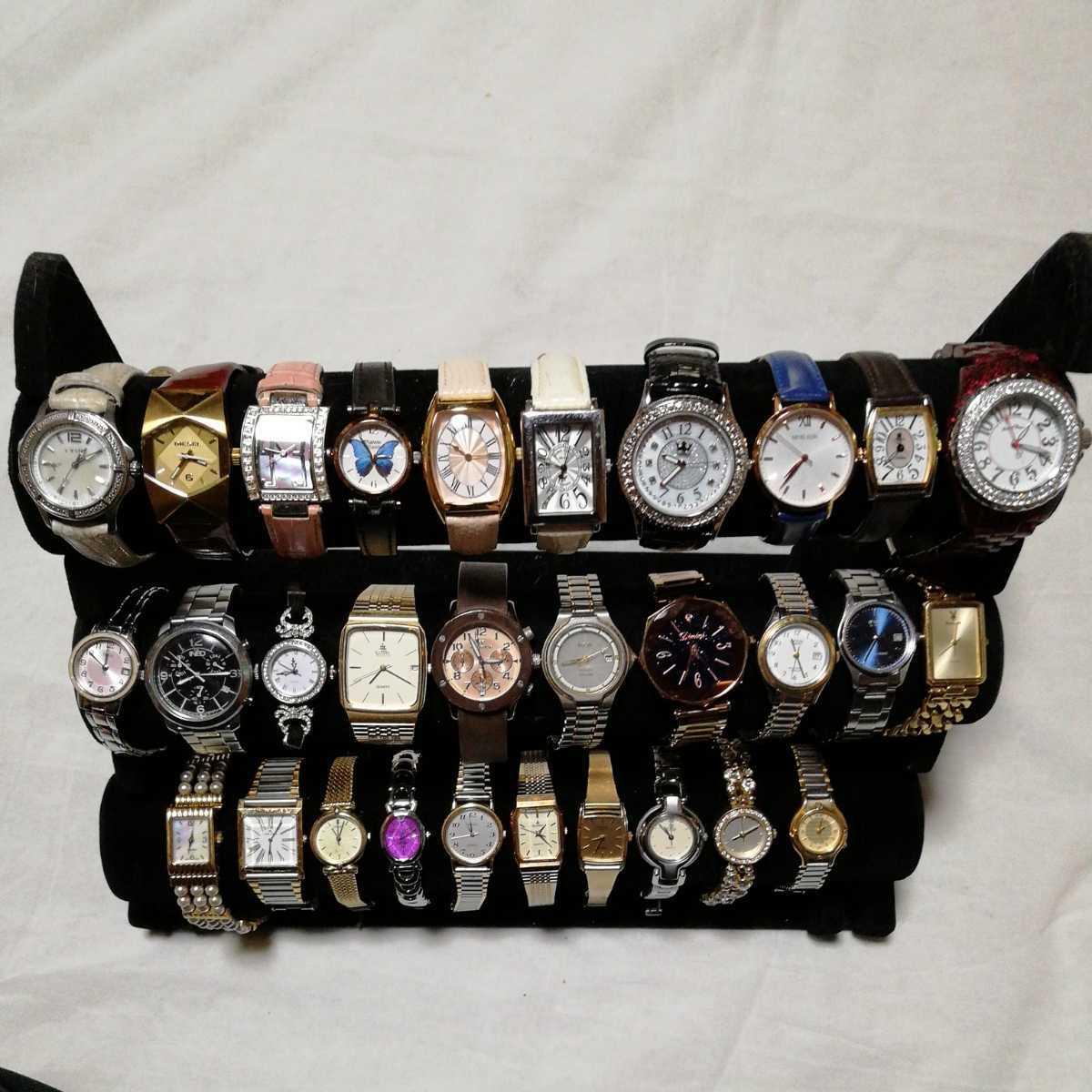 高級腕時計のみ ANNASUI DIESEL JUNCHANS SEIKO ELGIN CYMA TECHNOS ORIENT CASIO など 30本 まとめ 大量 セット ジャンク 格安 c01