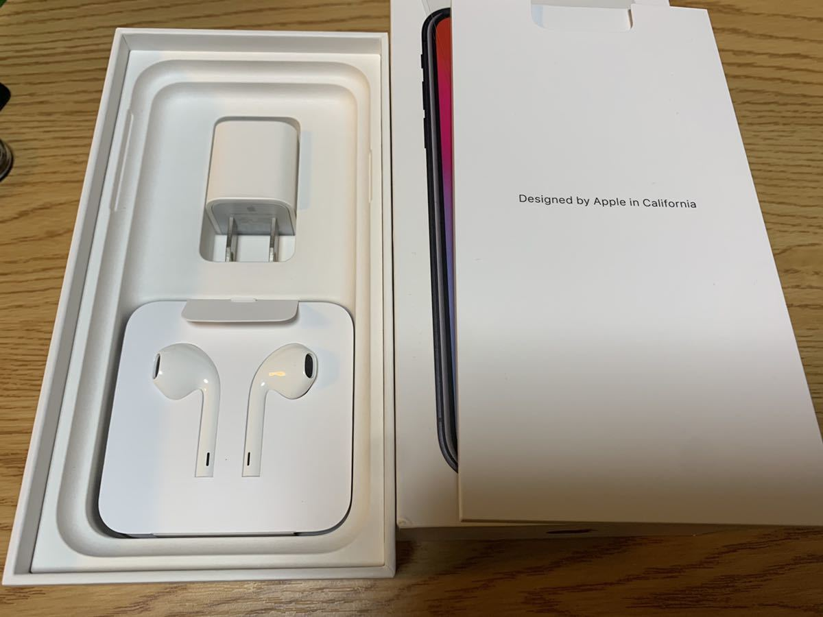【送料無料・SIMロック解除済み】SoftBank iPhone X 256GB スペースグレイ 利用制限〇 【おまけ付き】_画像5