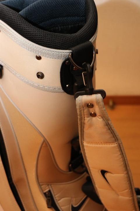ナイキ 間口 6分割 キャディバッグ 9インチ カートバッグ Nike ホワイト_画像5