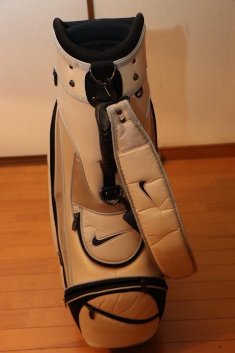 ナイキ 間口 6分割 キャディバッグ 9インチ カートバッグ Nike ホワイト_画像8
