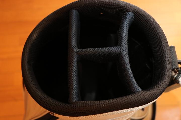 ナイキ 間口 6分割 キャディバッグ 9インチ カートバッグ Nike ホワイト_画像6