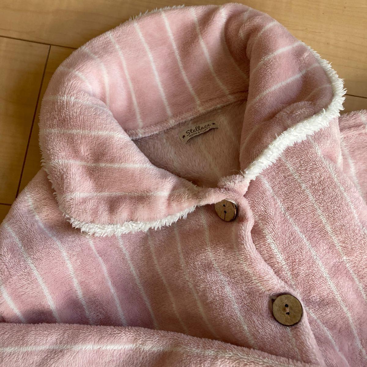 ルームウェア 上下セット パジャマ もこもこ ピンク 冬 あったか M L