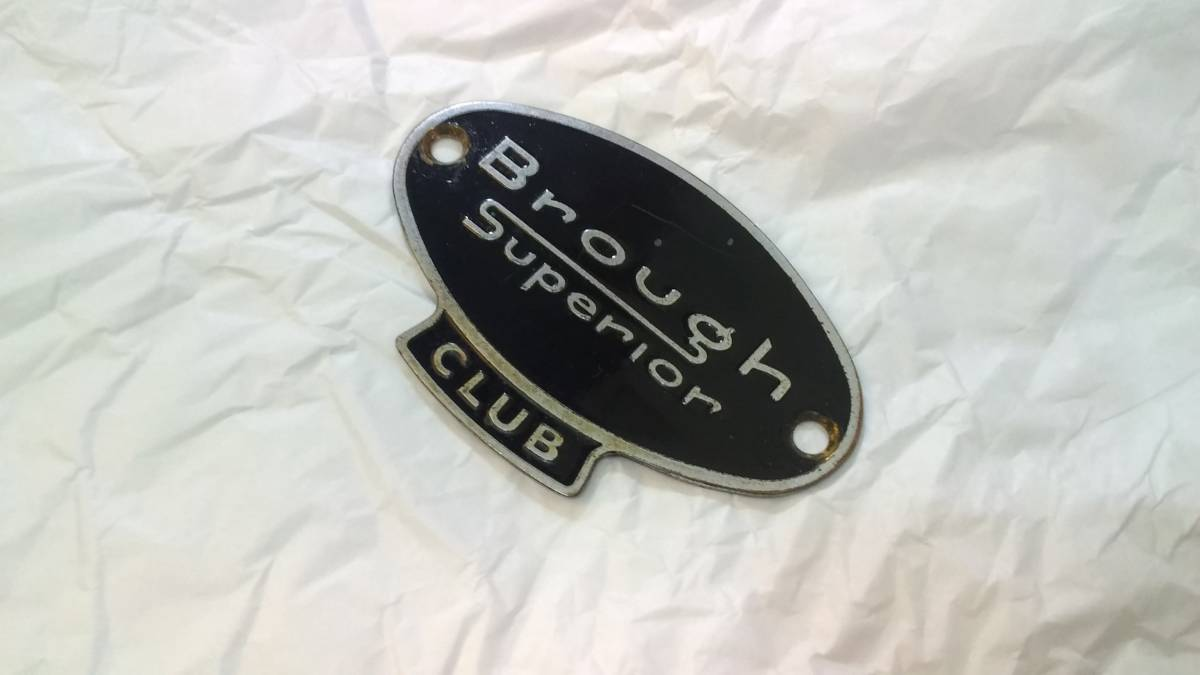ブラフ・シューペリア クラブ Brough Superior CLUB エナメル カーバッジ モーターサイクルバッジ 当時物 レア 貴重 希少 中古美品_画像2