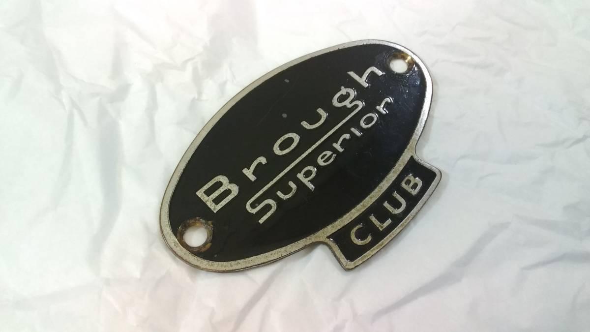 ブラフ・シューペリア クラブ Brough Superior CLUB エナメル カーバッジ モーターサイクルバッジ 当時物 レア 貴重 希少 中古美品_画像3