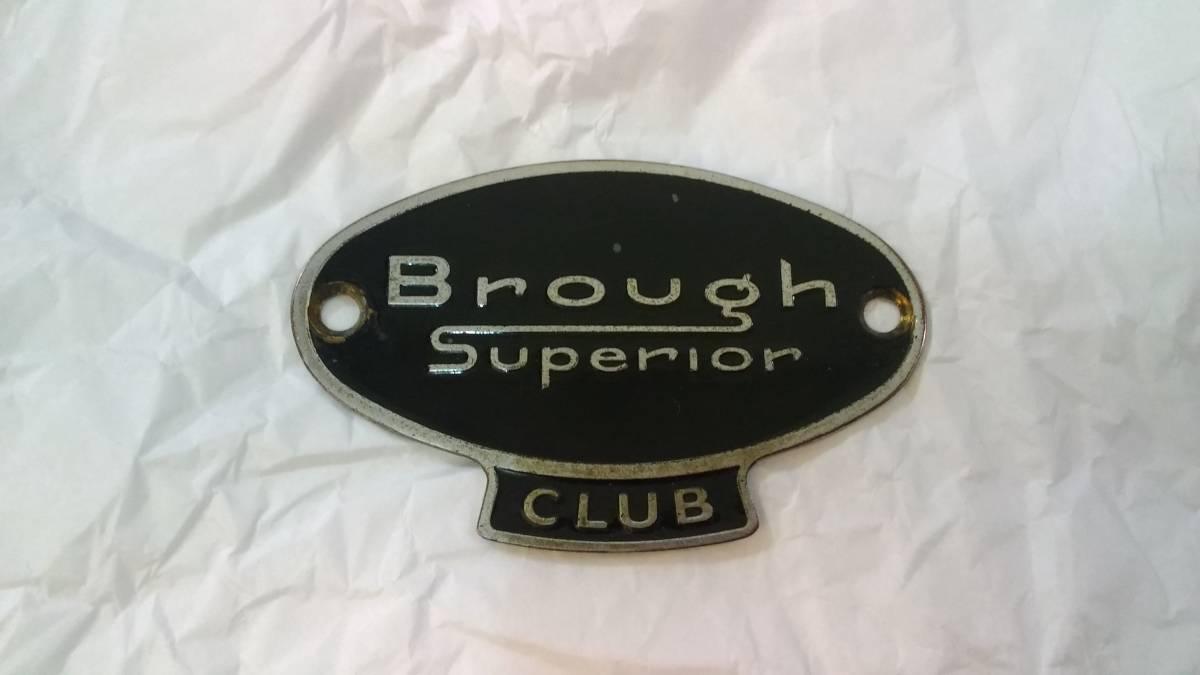ブラフ・シューペリア クラブ Brough Superior CLUB エナメル カーバッジ モーターサイクルバッジ 当時物 レア 貴重 希少 中古美品_画像1