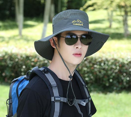 メンズ 帽子 折りたたみ アウトドアハット 登山 つば広 日除け帽子 紫外線対策 uvカット 作業 434sd_画像2