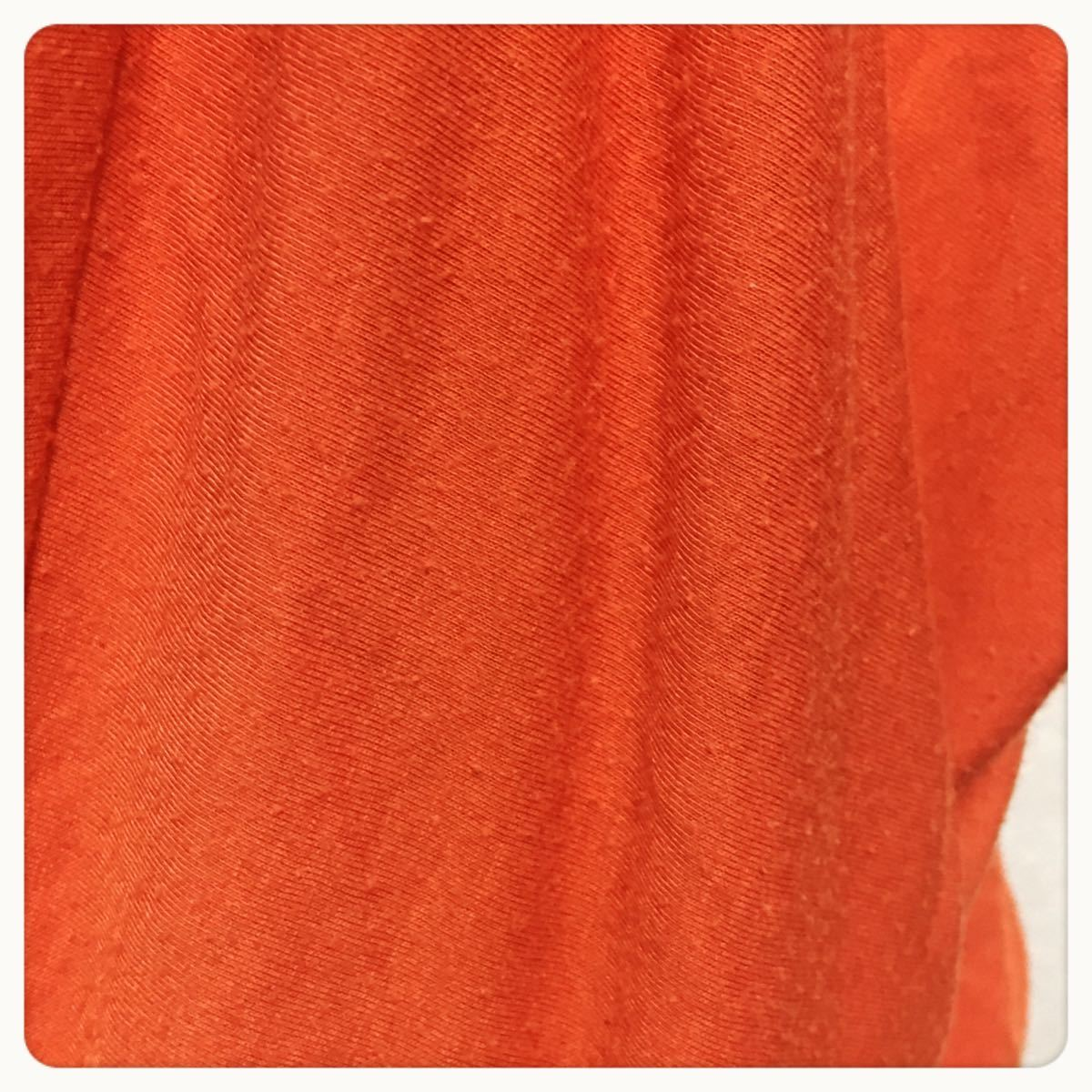 [anne]ドルマンスリーブ ニットソー 橙色 カットソー着心地良いLサイズOK